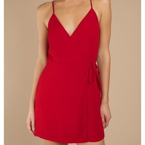 v-neck, front wrap dress!